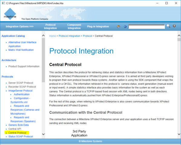 How can to know the camera's status via Protocol Integration