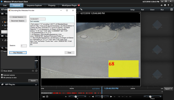 Retrieve PTZ camera metadata using protocol